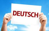 German (in German) card — Stock Photo