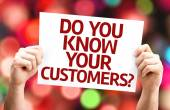 Do You Know Your Customers? card — Stock Photo