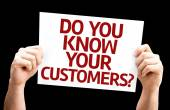 Do You Know Your Customers? card — Foto de Stock