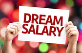 Dream Salary card with colorful background — Stock Photo