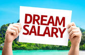 Dream Salary card — Stock Photo