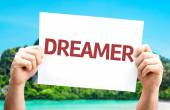 Dreamer card with a beach — Stock Photo