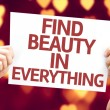Find Beauty in Everything card — Stock Photo #63140205