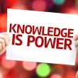 Knowledge is Power card — Stock Photo #63141559