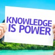 Knowledge is Power card — Stock Photo #63141577