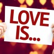 Love Is ... card — Stock Photo #63141875