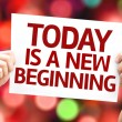 Today is a New Beginning card — Stock Photo #63143321