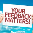 Your Feedback Matters card — Stock Photo #63143965