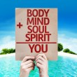 Body plus Mind plus Soul plus Spirit equal You card — Stock Photo #63146695