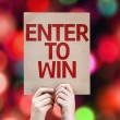 Enter to Win card — Stock Photo #63149155