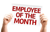 Employee of the Month card — Stockfoto
