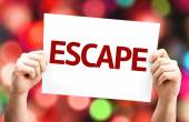 Escape card with colorful background — Stock Photo