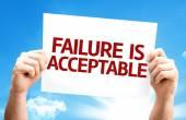 Failure is Acceptable card — Stock Photo