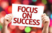 Focus on Success card — ストック写真