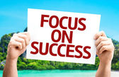 Focus on Success card — Stock Photo