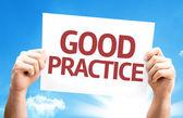 Good Practice card — Stock Photo