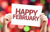 Happy February card — Stock Photo