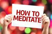 How to Meditate card — Stock Photo