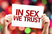 In Sex We Trust card — Zdjęcie stockowe