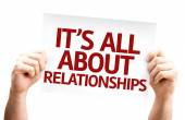 It's All About Relationships card — Stock Photo