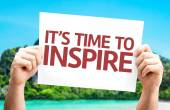 It's Time to Inspire card — Stock Photo