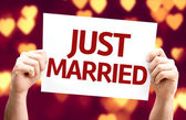 Just Married card — Stock Photo
