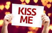 Kiss Me card — Stok fotoğraf
