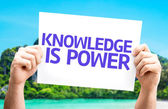 Knowledge is Power card — Stock Photo