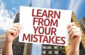 Learn From Your Mistakes card — Foto de Stock