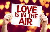 Love Is In The Air card — Stock Photo