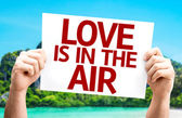 Love Is In The Air card — Stockfoto