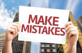Make Mistakes card — Stock Photo