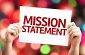 Mission Statement card — Stock Photo