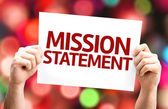 Mission Statement card — Stockfoto