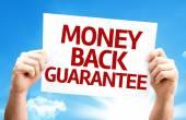 Money Back Guarantee card — Stock Photo