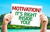 Motivation? Its Right Inside You! card — Stock Photo