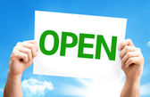 Open.Text on card — Foto de Stock