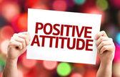 Positive Attitude card — Stock Photo