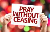 Pray Without Ceasing card — Stockfoto