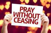 Pray Without Ceasing card — Stock Photo