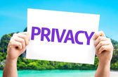Privacy.Text on card — Stock Photo