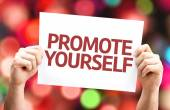 Promote Yourself card — Fotografia Stock