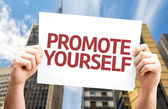 Promote Yourself card — Foto de Stock