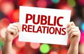 Public Relations card — Stock Photo