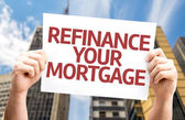 Refinance Your Mortgage card — Stock Photo