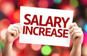 Salary Increase card — Fotografia Stock