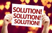 Solution Solution Solution card — Stock Photo
