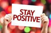 Stay Positive card — Stock Photo