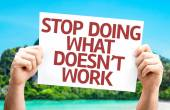Stop Doing What Doesn't Work card — Foto de Stock