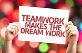 Teamwork Makes the Dream Work card — Stock Photo